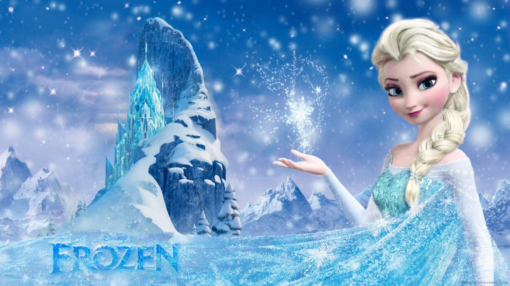 Photo from Frozen featuring Elsa and the ice castle