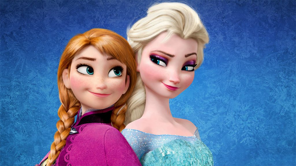 Photo of Anna and Elsa